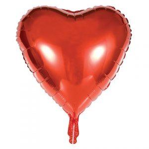 """בלון מיילר לב אדום 18"""""""