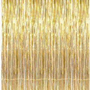 וילון פרנזים זהב
